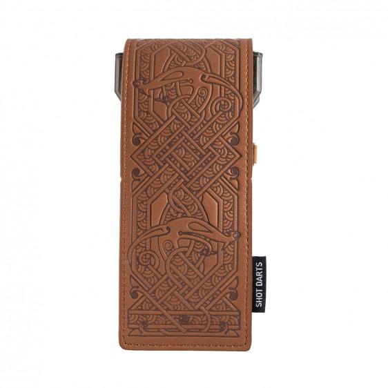 shot insignia dart case viking brown with choco detailing