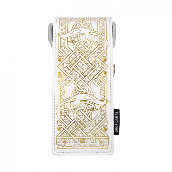 shot insignia dart case viking white with gold detailing