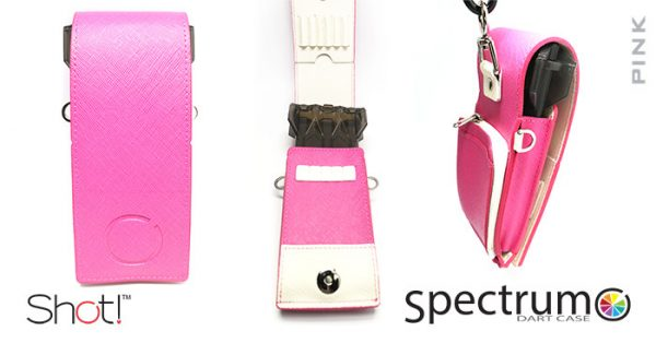 shot spectrum dart case pink