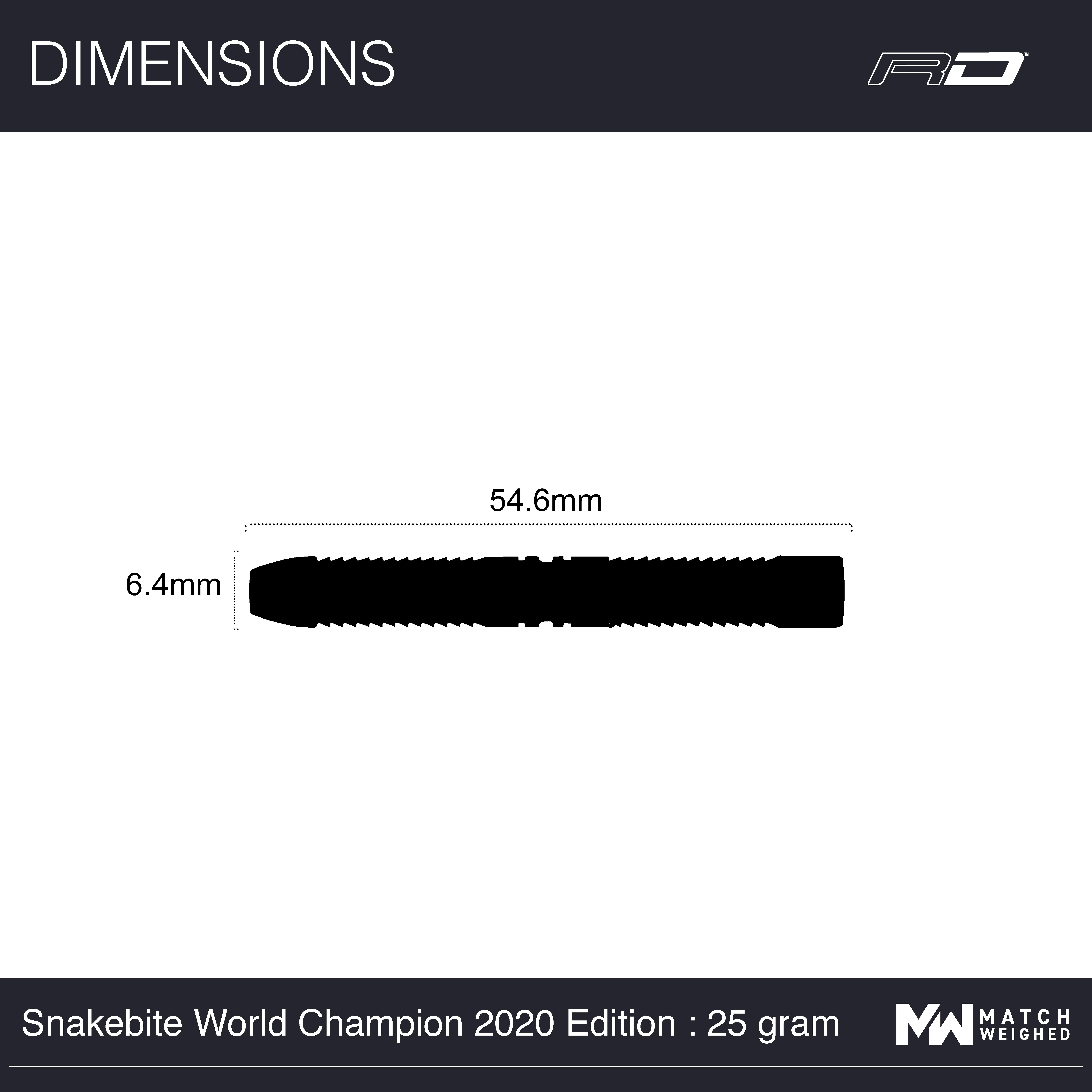 RED DRAGON Snakebite Weltmeister 2020 Auflage Wolframpfeile Einschlie/ßlich Fl/üge und Stiele